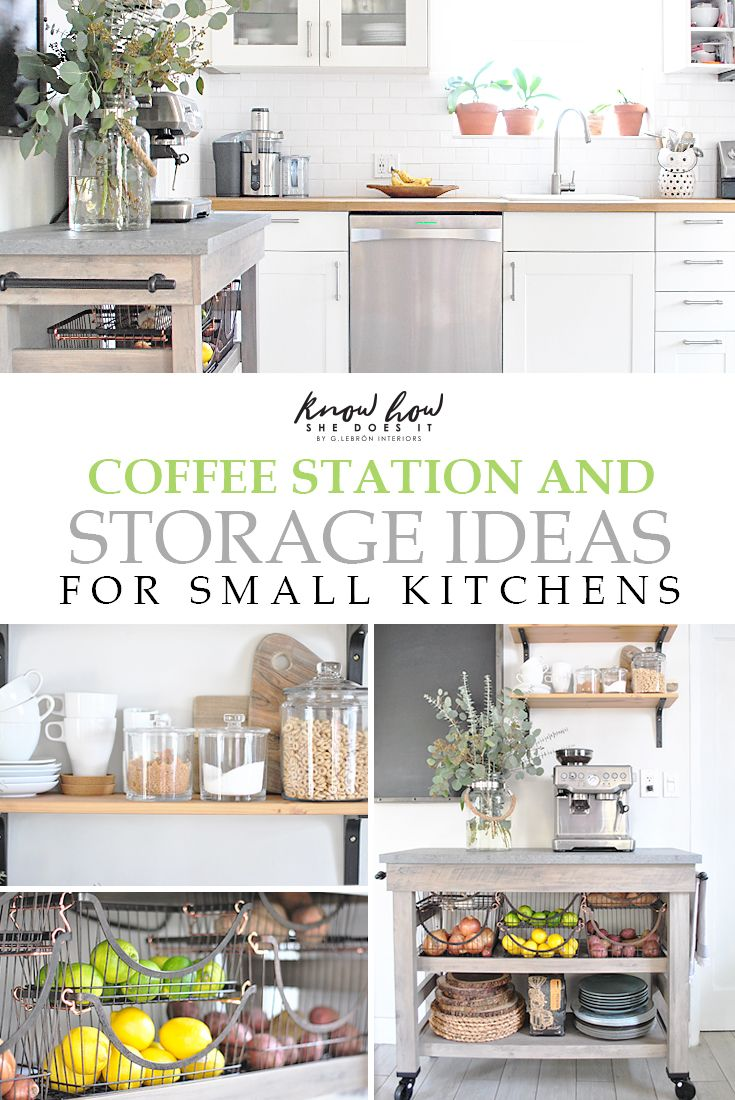 Creating a coffee station even in small kitchens, has its perks. In addition to more counter space, these can provide more storage area. Read more on these coffee station and storage ideas for small kitchens. (#sponsored) BHG Live Better