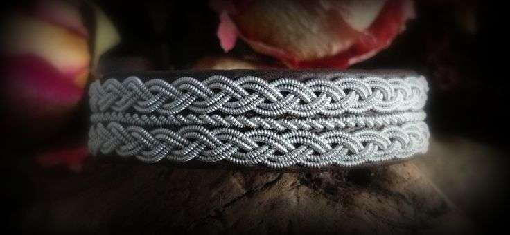 Sami Bracelets - I can't get over how this has got to be related to the viking posament wire braiding - Sami is done by the Sami people who are nomadic and live in northern Sweden and their techniques have been used for hundreds of years