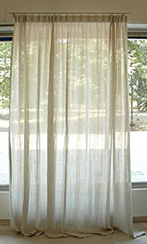 Art Home-Pure Linen Taupe Luxury Curtain, modern and elegant design.