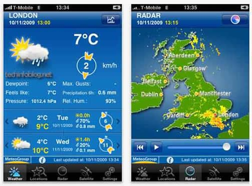 Weather Pro iPhone Apps for Travelers