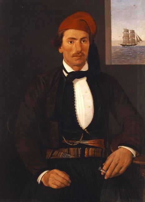 Kriezis Andreas (1813-1877) Captain form Psara, 1850-53 Κριεζής Ανδρέας (1813 - μετά το 1877) Ψαριανός καπετάνιος, π. 1850-1853