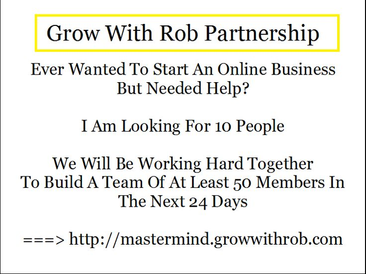 Grow With Rob Partnership    (work from home) (work from home mums)  (work from home online)  (working from home)  (online business)  (mastermind group)  (home business)  (residual income opportunities)  (mlm compensation plans)  (can you make money writing a blog)    #workfromhome  #workfromhomemums  #workfromhomeonline  #workingfromhome  #onlinebusiness  #mastermindgroup  #homebusiness  #residualincomeopportunities #mlmcompensationplans #canyoumakemoneywritingablog