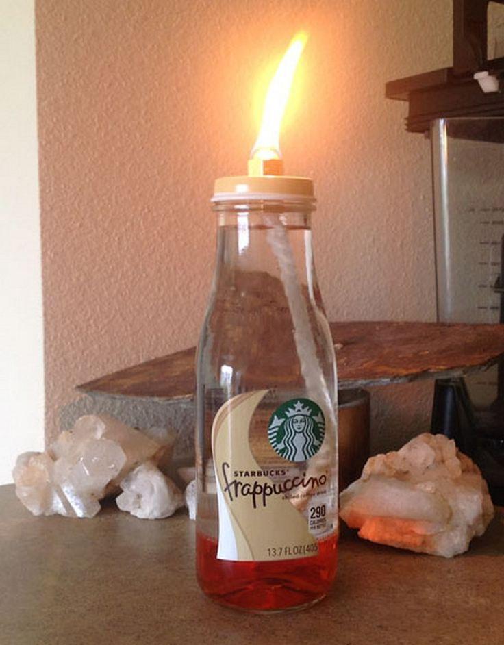13 best starbuck jar crafts images on pinterest for Diy bottles and jars