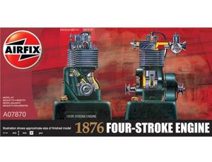 The Airfix 1876 Four-Stroke Engine Model Kit from the plastic engine model range accurately recreates the real life internal combustion engine.    This plastic engine kit requires paint and glue to complete.