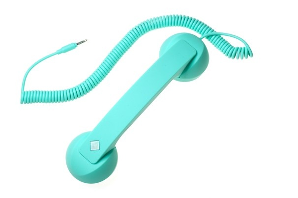 A smartphone handset that looks like an old fashioned corded phone. Hilarious!