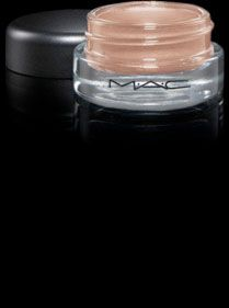 MAC paint pots. Possibly just the right make-up to show up with my skin tone?