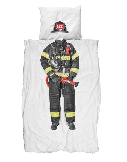 Firefighter, Snurk #sheets #bedding #kids