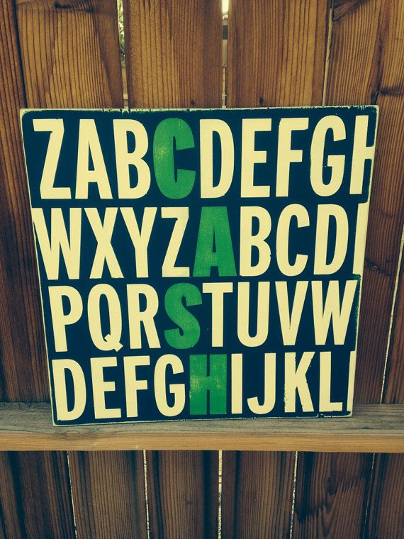 Alphabet Name Sign by WrightAwayDesigns on Etsy