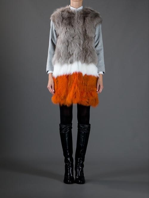 Women - All - Msgm Fox Fur Coat - Paleari Online