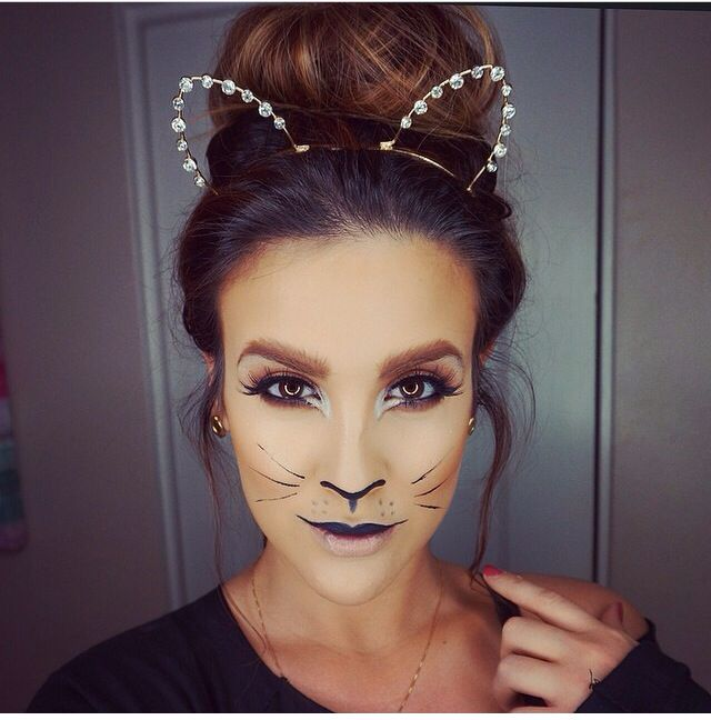 Halloween cat makeup by Nicole Guerriero!