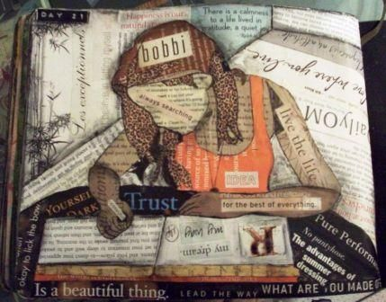Thought this was a great Art Journal- Collage style... http://con-tain-it.typepad.com/my_weblog/2010/03/book-reviews-reading-journals.html
