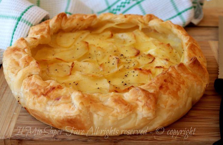 Rustico con ricotta e patate - torta salata strepitosa! Ricetta il mio saper fare