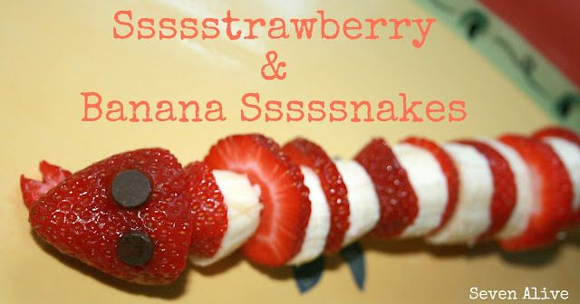 Sssstrawberry Banana Ssssnakes. Yummy and fun snake snacks!