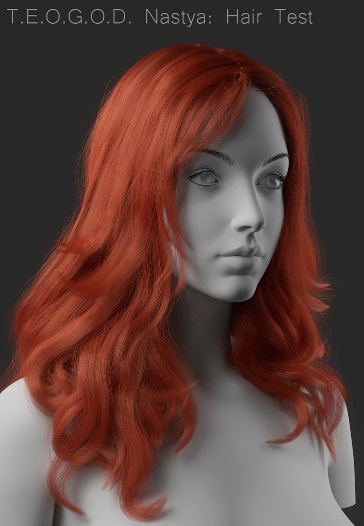Hair Tests (Nastya and Flora), Anton Sljusar on ArtStation at https://www.artstation.com/artwork/oxVlk