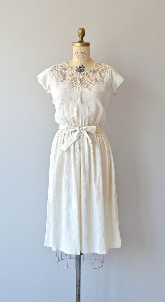 Tour of Cyprus dress 1970s cotton gauze dress by DearGolden