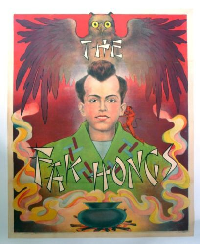 Vintage-Red-Fak-Hong-Magic-Poster-Mounted-on-Linen