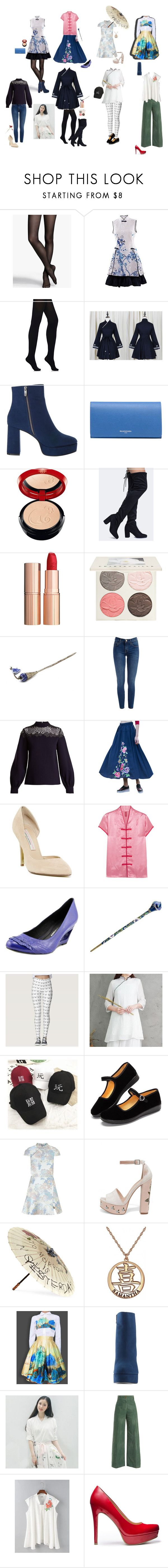 """""""my chinese style"""" by dance4ever1222 ❤ liked on Polyvore featuring Express, Wolford, GOGO Girl, Chinese Laundry, Balenciaga, Giorgio Armani, Charlotte Tilbury, Chantecaille, HUISHAN ZHANG and Staud"""