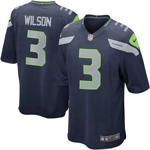 Mens Seattle Seahawks Russell Wilson 3# College Navy Game Jersey M-3XL | eBay