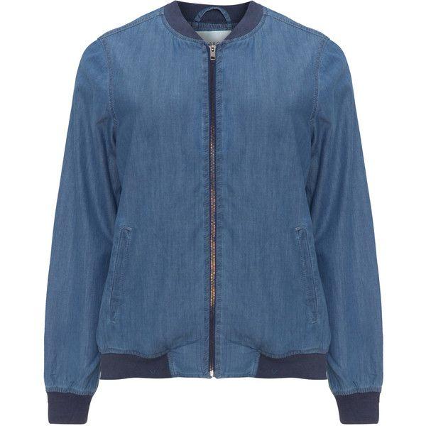 Junarose Light-Blue / Blue Plus Size Denim bomber jacket ($26) ❤ liked on Polyvore featuring outerwear, jackets, plus size, lightweight bomber jacket, plus size lightweight jacket, flight jacket, plus size jackets and lightweight jackets