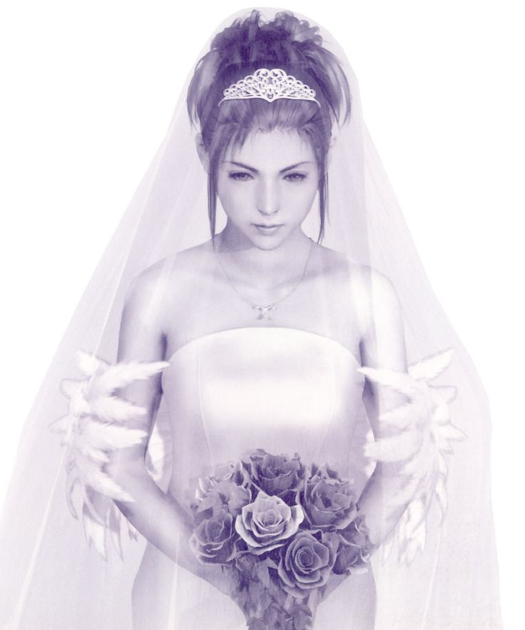Week 10 - Final Fantasy X - Concept Art Mon - Yuna in Wedding Dress
