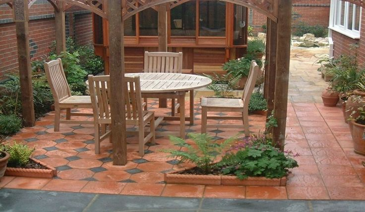 17 best images about garden ideas on pinterest small for Paving ideas for small courtyards