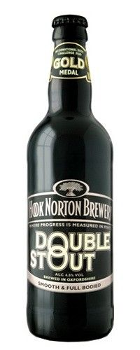 Cerveja Hook Norton Double Stout, estilo Dry Stout, produzida por Hook Norton Brewery, Inglaterra. 4.8% ABV de álcool.