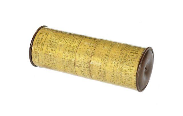 A rare McFarlane's calculating cylinder, Scottish, circa 1835,