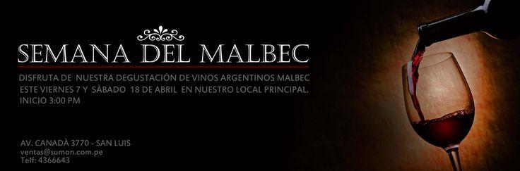 Publicidad promocional , semana del Malbec.