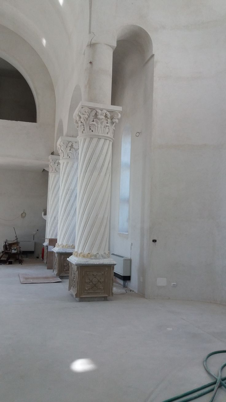 Church columns and capitals before finish-- by Architectural Ornaments