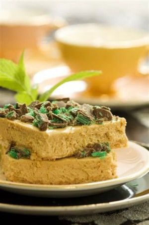 Traditional South African Peppermint Caramel Fridge Tart