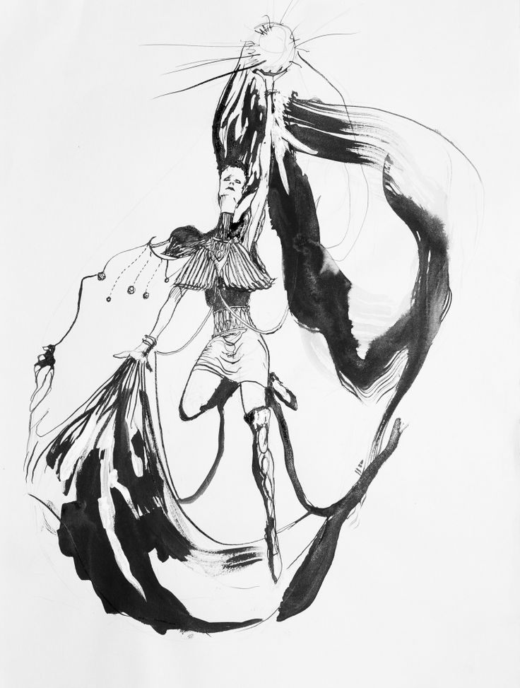 """Dancer of the Cosmos"" by Jon Weber (2013) https://jonweberart.squarespace.com  Ink on Paper, #fantasy #art"