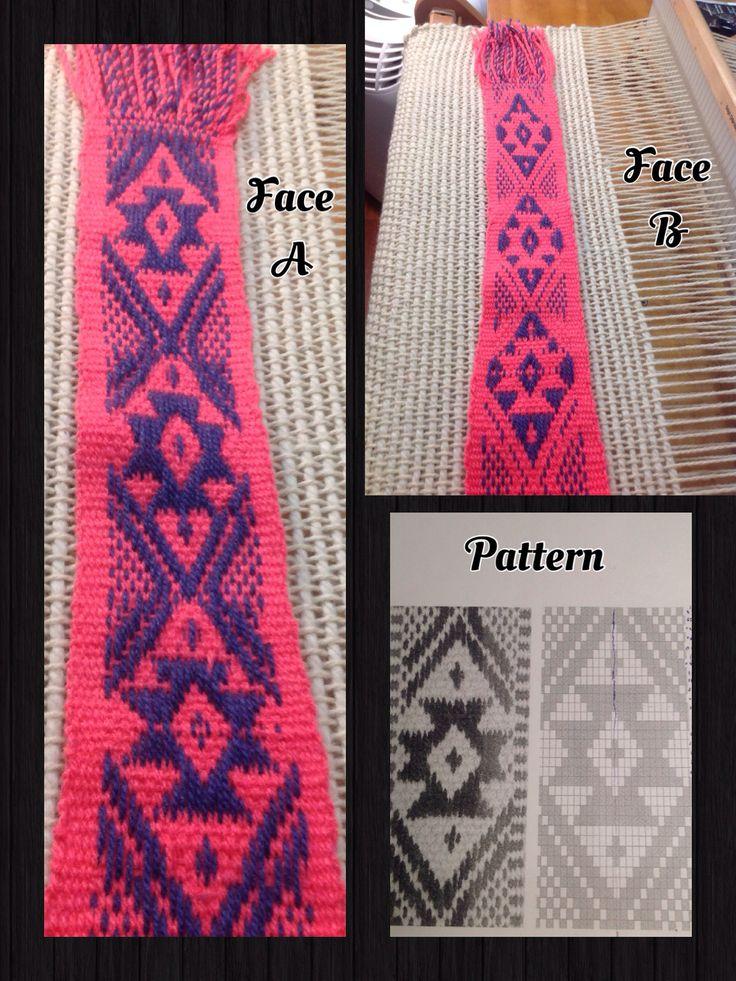Aprendiendo el maravilloso Tejido Mapuche, orgullosa de nuestras raíces y poder hacer sus maravillosos tejidos....