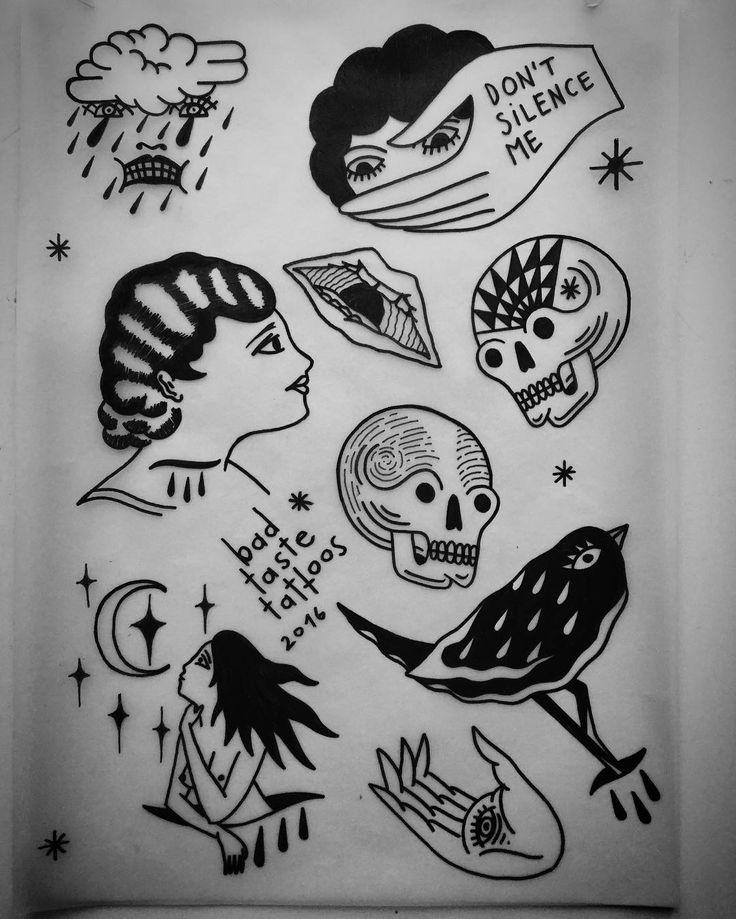 Nowe wzorki do wzięcia ✌️ #ladytattoo #blackink #blackwork #trflash #trad_tattooflash #tattoo #warsawtattoo #tatuaż #oldschool #ilustracja #birdtattoo #illustration #handtattoo #occult #instaart #flashaddicted #flashworkers #traditionaltattoo #oldschooltattoo #blackflashwork #cool #blacktattoo #stoner #warszawa #onlyblackart #oldlines #doodle #skulltattoo #pagan