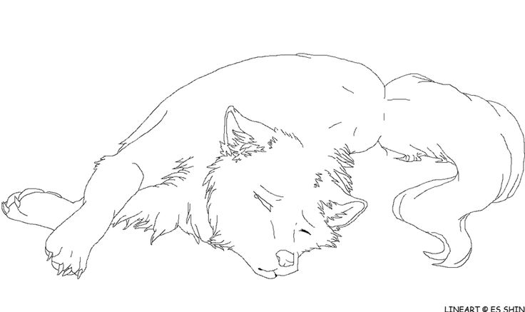 seeing eye dog coloring pages | anime wolf coloring pages | Sad Wolf Lineart by xXWitherXx ...