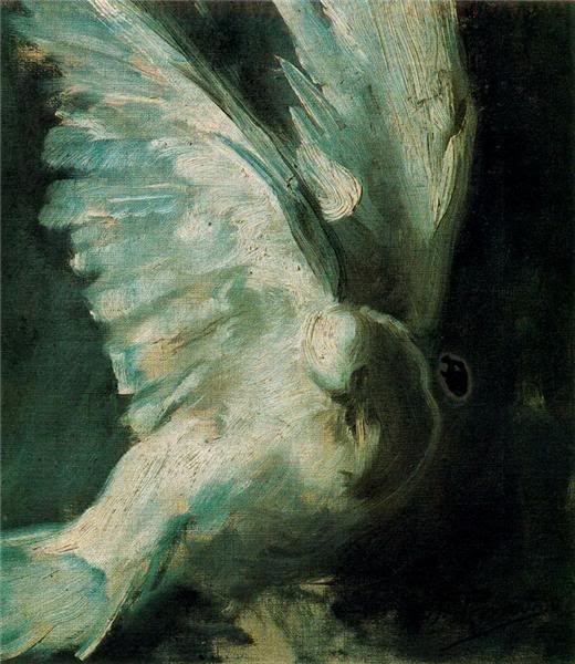 Paloma, Ignacio Pinazo Camarlench. Spanish (1849 - 1916)