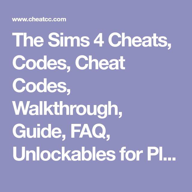The Sims 4 Cheats, Codes, Cheat Codes, Walkthrough, Guide, FAQ, Unlockables for PlayStation 4 (PS4)
