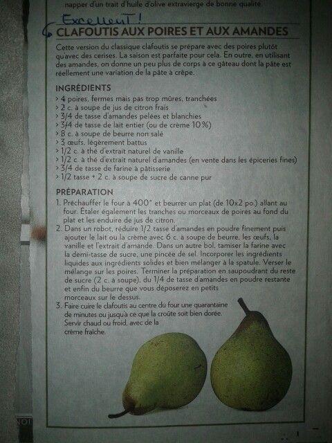 Clafoutis aux poires et aux amandes