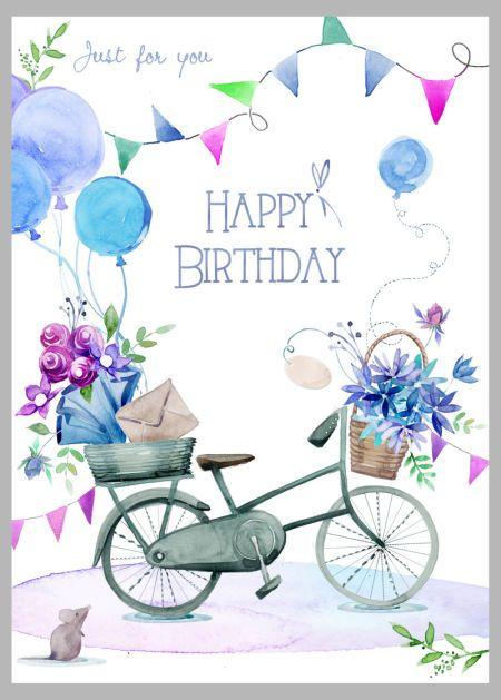 Victoria Nelson - flowers bike copy.jpg, Happy Birthday