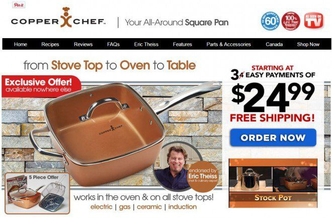 Copper Chef review: This square pan is advertised as a versatile cookware product that can be used in the oven or stove top.