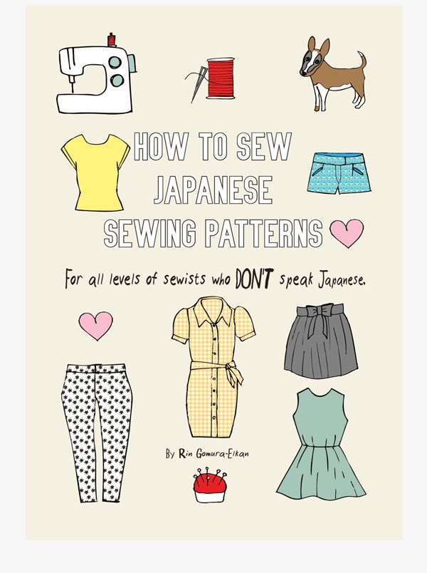 All you need to start making Japanese sewing patterns in one handy ebook!