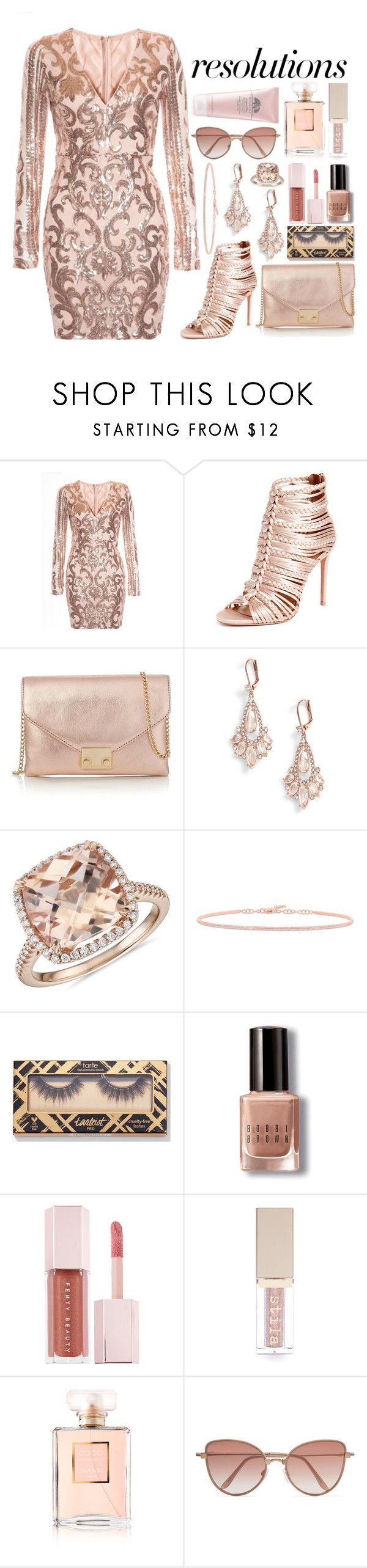 """""""#PolyPresents: New Year's Resolutions"""" by downeastgirl88 ❤ liked on Polyvore featuring Aquazzura, Loeffler Randall, Kate Spade, Blue Nile, Bobbi Brown Cosmetics, Puma, Stila, Chanel, Cutler and Gross and Origins"""