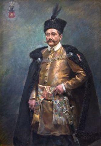"""Wojciech Kossak, """"Portret Stanisława Jędrzejowicza"""", 1909"""
