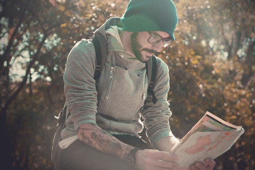 so cute, beard and tattoos with glasses...