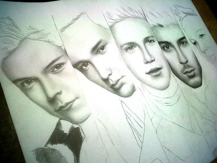 one direction dibujo a lapiz
