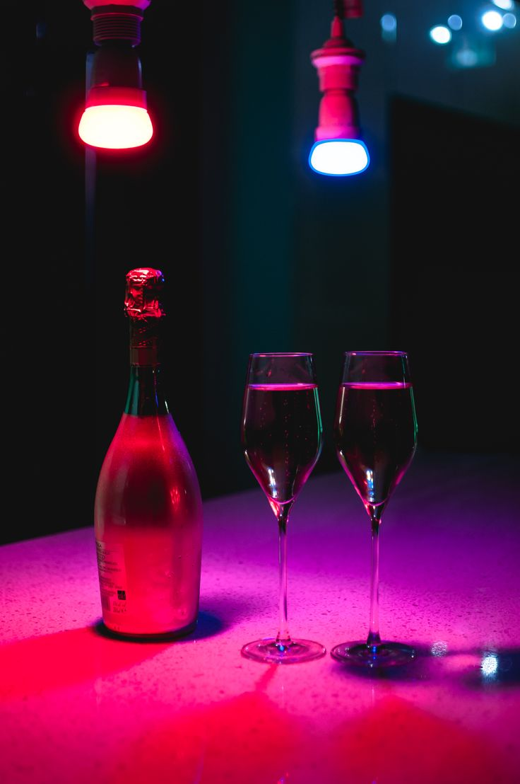 The holidays call for #champagne under #smartlights - they'll know how to set just the right mood