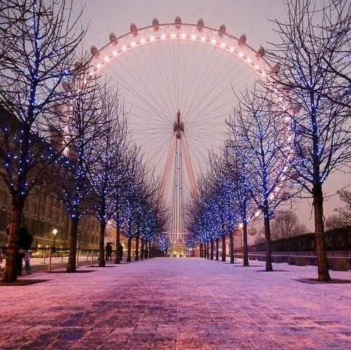 ..., beautiful, christmas lights, ferris wheel, lights, london eye - inspiring picture on Favim.com