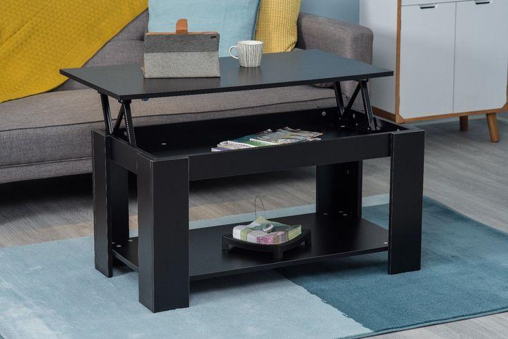 #coffeetable #table #blacktable #hidenstoreage