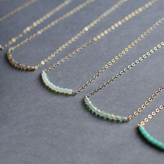you & me - friendship or bridesmaid necklaces
