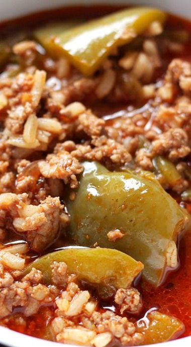 Stuffed Pepper Soup - Hearty, comforting, warm and incredibly flavorful Stuffed Pepper Soup.