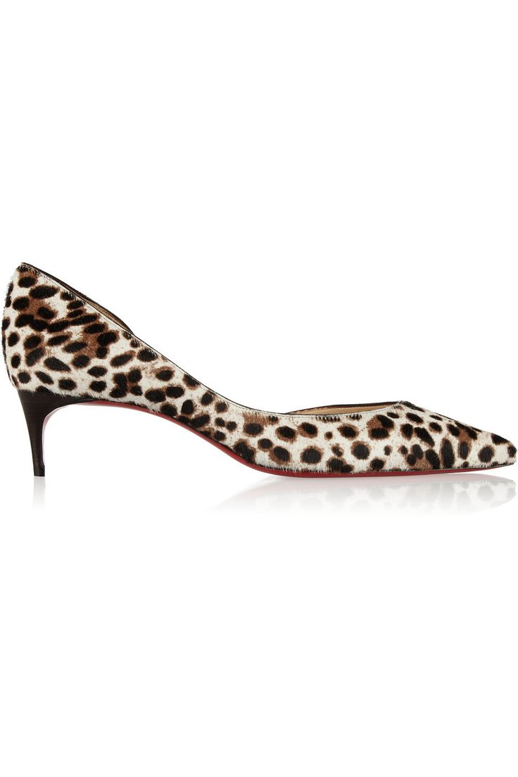 Christian Louboutin|Iriza 45 leopard-print calf hair pumps|NET-A-PORTER.COM